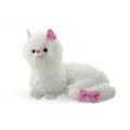 Бяло плюшено коте с панделка