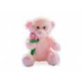 Розово мече държащо цвете
