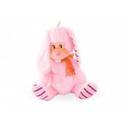 Плюшено розово или бяло зайче с панделка